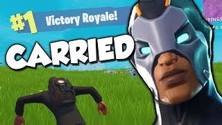 Getting Carried for 2 Wins! ~ Fortnite: Battle Royale with Friends