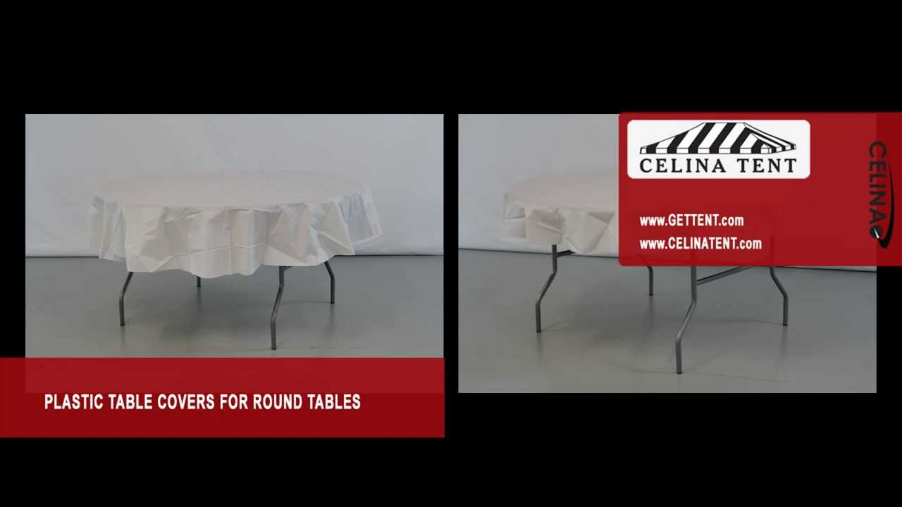 Round Plastic Table Covers / Table Throw   YouTube