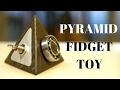 Pyramid Fidget Toy (bog oak and aluminum tetrahedron)