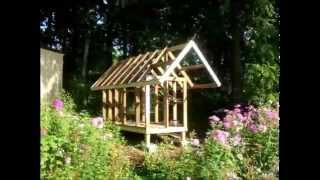 Building the kids' playhouse timelapse