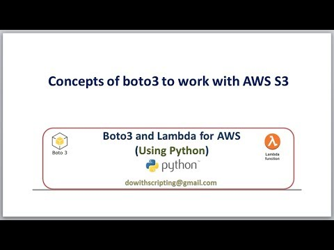 AWS Automation with boto3 | Concepts of boto3 to work with AWS S3 Service |  Lambda Functions