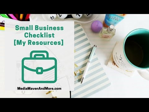 Small Business Checklist [MY RESOURCES]