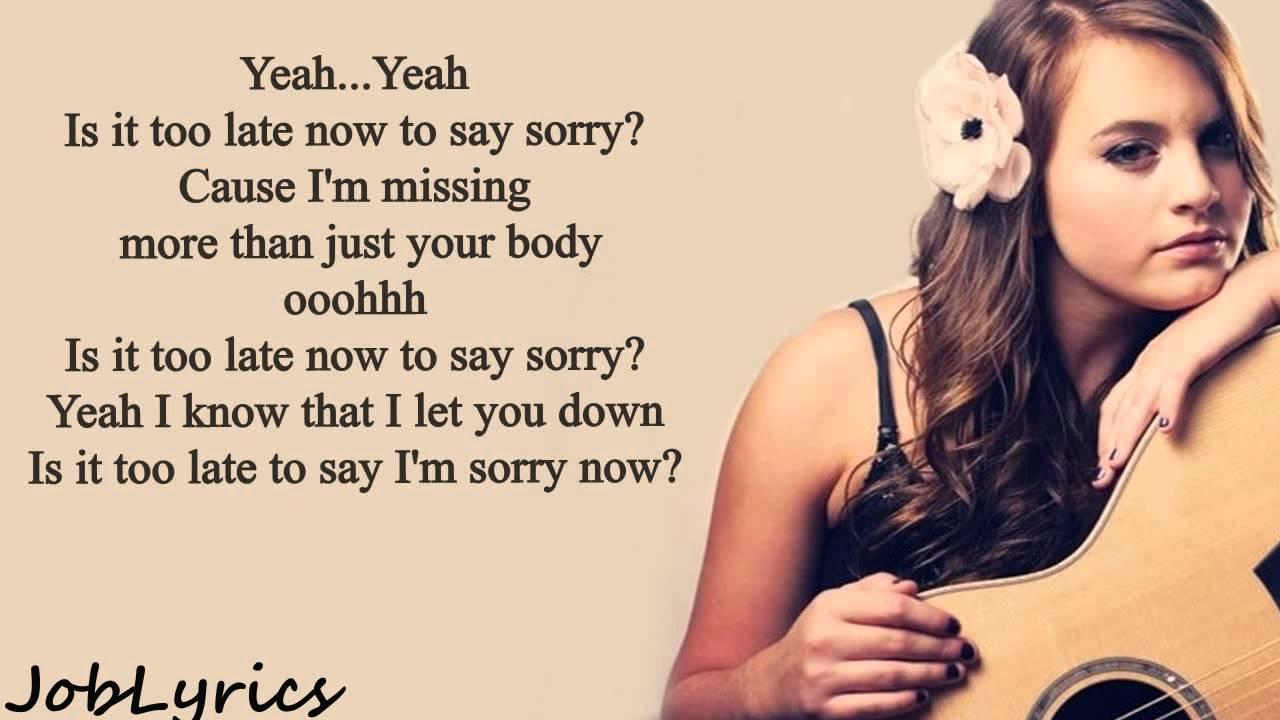 Sorry lyrics video download hd