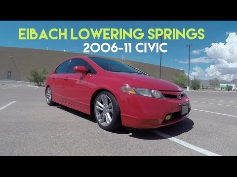 Eibach Lowering Springs Before/After Civic Si 2006-2011