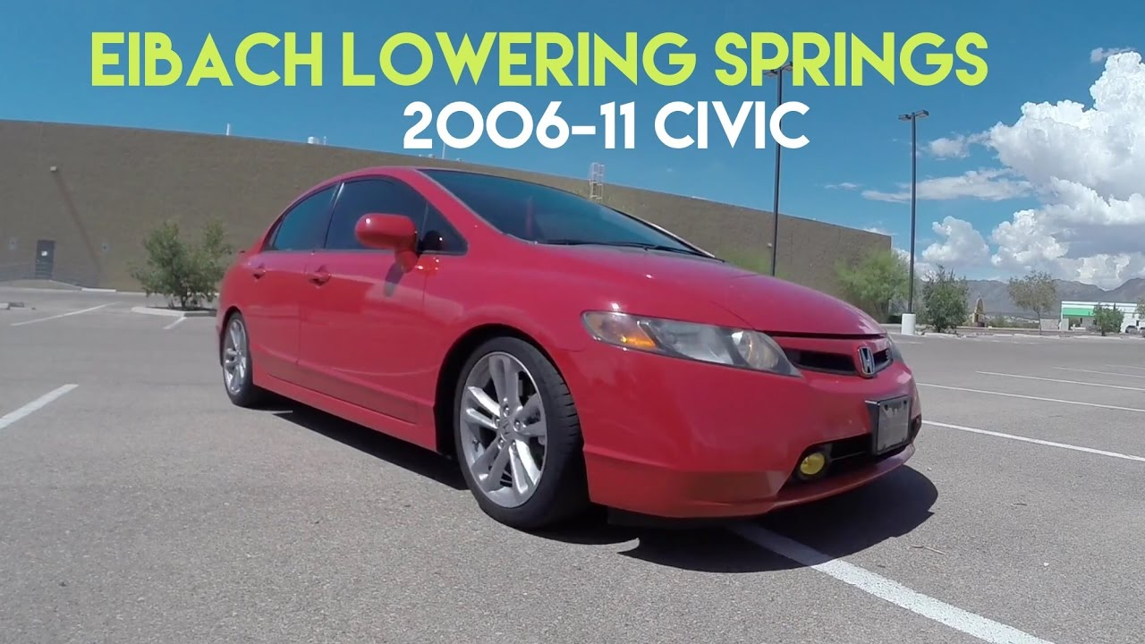 Eibach lowering springs beforeafter civic si 2006 2011 youtube publicscrutiny Images