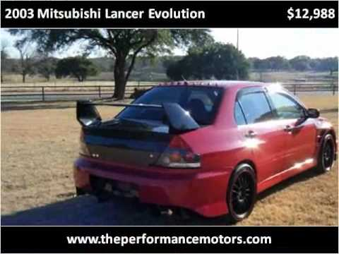 2003 Mitsubishi Lancer Evolution available from Performance