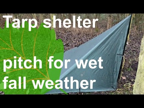 tarp shelter how to: wet weather pitch