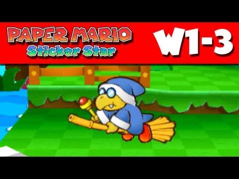 Paper Mario Sticker Star - W1-3 - Water's Edge Way (Nintendo 3DS Gameplay Walkthrough)