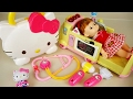 Hello Kitty And Baby Doll Hosptal Doctor Kit Toys Play Ambulance video