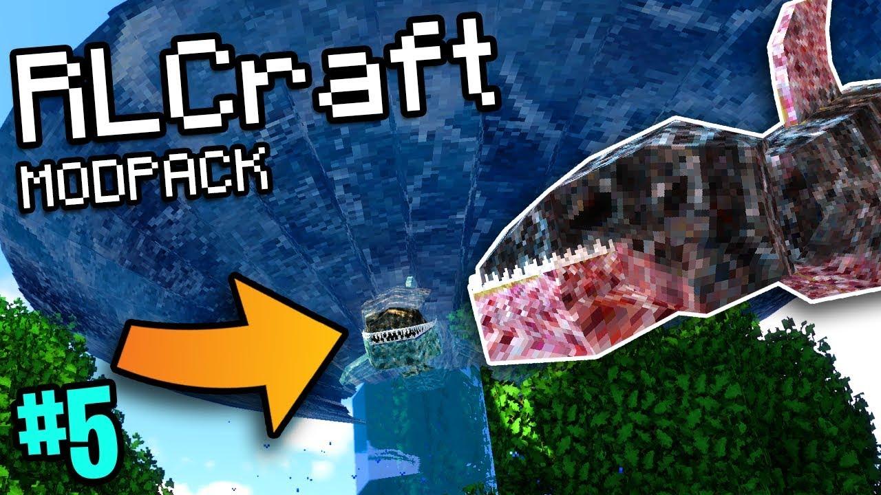 Download Sharknado In Minecraft (RLCraft Modpack #5)