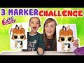 3 MARKER CHALLENGE LOL SURPRISE SERIES 3 WAVE 2 CONFETTI POP PETS   KID VS PARENT   WITH MY MOM