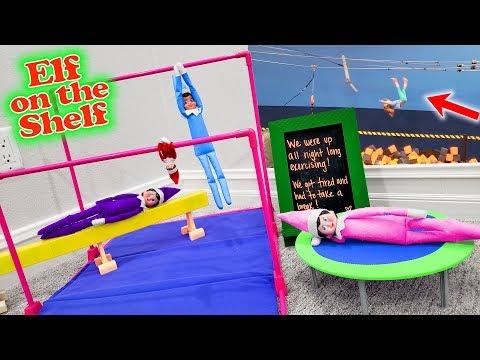Trinity Backflips Off Zipline At Trampoline Park After Elf On The Shelf Gymnastics Party!!!