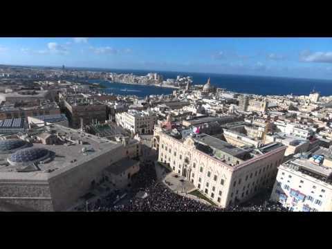 Panama scandal national protest in Castille Square, Malta