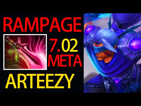 Carry Anti Mage 7.02 META 9K MMR RAMPAGE by Arteezy Dota 2