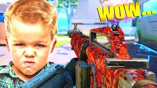 NEW BEST DLC WEAPON makes LITTLE KID ANGRY! (BO3 M14 Gameplay)