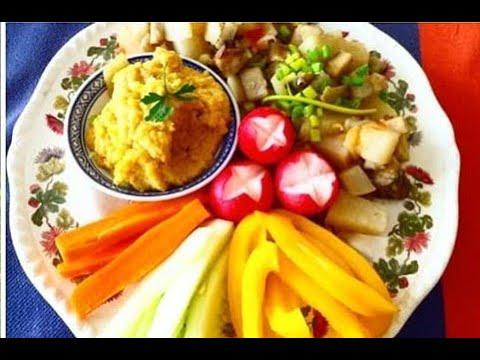 lunch-rapide,-facile,-diététique---recette-de-houmous,-christophine,-patate-douce
