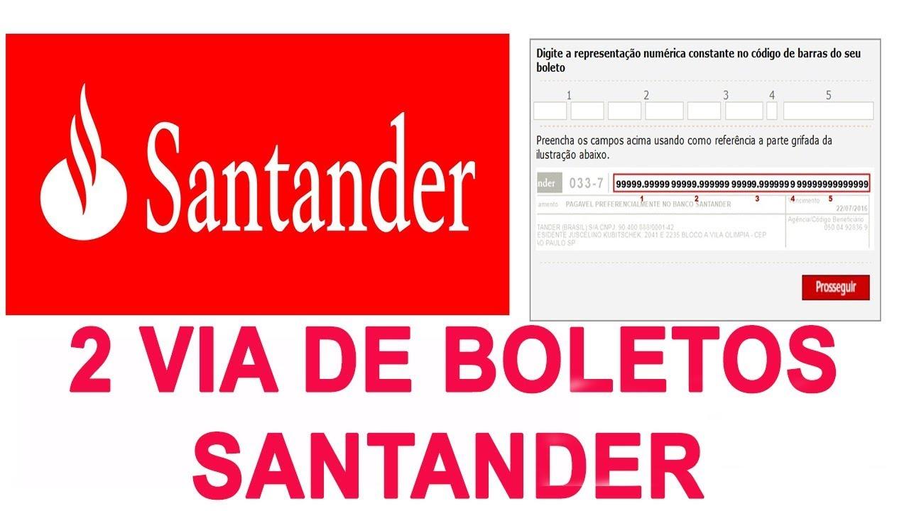 Santander 2 Via Boleto Vencido Ou Nao Vencido 2 Via De Boleto