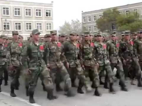 Afghan army parade training