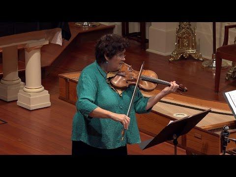 Biber: Violin Sonata No. 5 in E Minor, Elizabeth Blumenstock & Voices of Music, 4K UHD video