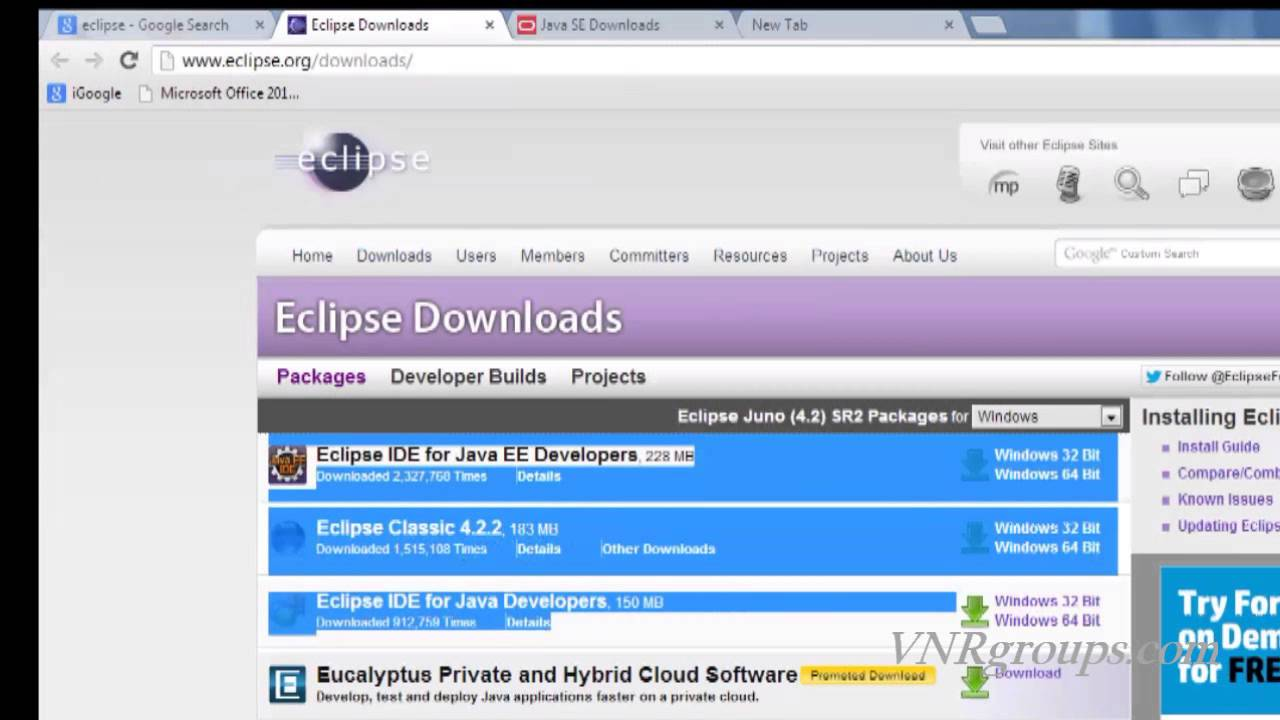Java tutorial for beginners 1 installing eclipse youtube java tutorial for beginners 1 installing eclipse baditri Choice Image