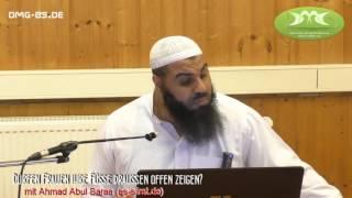 DÜRFEN FRAUEN IHRE FÜSSE DRAUßEN OFFEN ZEIGEN?   ┇ Ahmad Abul Baraa