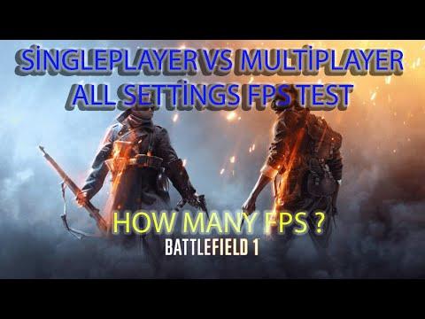 Battlefield 1 Gameplay : Multiplayer Vs Singleplayer - Ryzen 5 1600 / Gtx 960 2Gb Fps Test