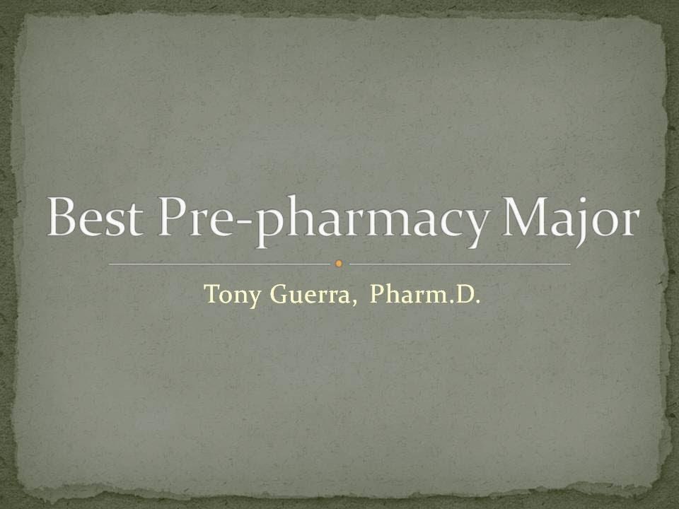 Can i major in pre-pharmacy?