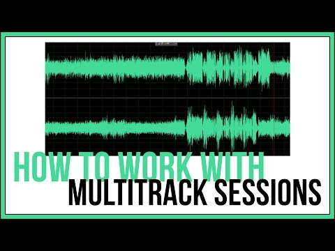 How To Work With Multitrack Sessions In Adobe Audition  Audition Tutorial