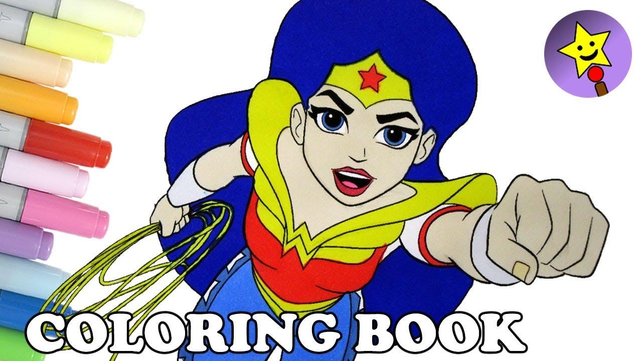 dc super hero girls wonder woman coloring book page dc superhero