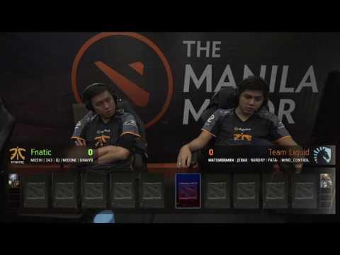 The Manila Major - Group Stage: Team Liquid vs Fnatic (Group C Winners)