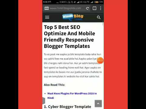 Best Blogger Template Free Download 2019 | SEO friendly Template for Blogger