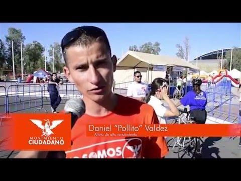 """Gana Daniel """"pollito"""" Valdez carrera 5k primera dama"""