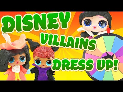 LOL Surprise Dolls Disney Villains Spin the Wheel Game! Featuring Sugar Queen   LOL Dolls Families