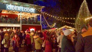 LONDON WALK | South Bank at Christmas incl. Winter Market and Rekorderlig Cider Lodge | England