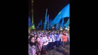 В Кокшетау празднуют победу Нурсултана Назарбаева на президентских выборах