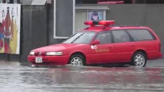 深安消防署から豪雨による災害現場に向けて緊急出動する局5 thumbnail