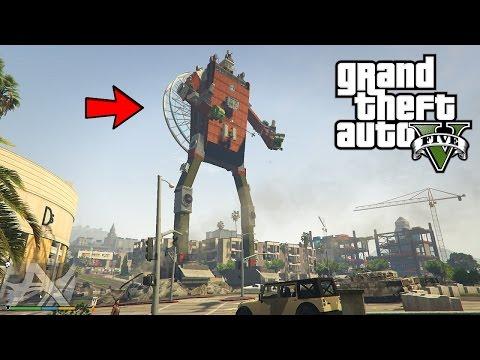GTA 5 - BIG STUNT SUR UN ROBOT GEANT EN VILLE