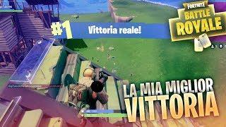 LA MIA MIGLIOR PARTITA IN LIVE SU FORTNITE! Fortnite Battle Royale ITA!