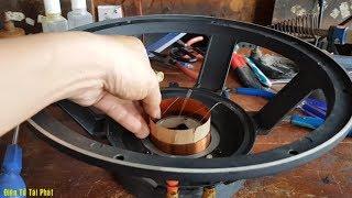 Cách Sửa Loa Bass 30, Bị Đụng Coil Loa ✔