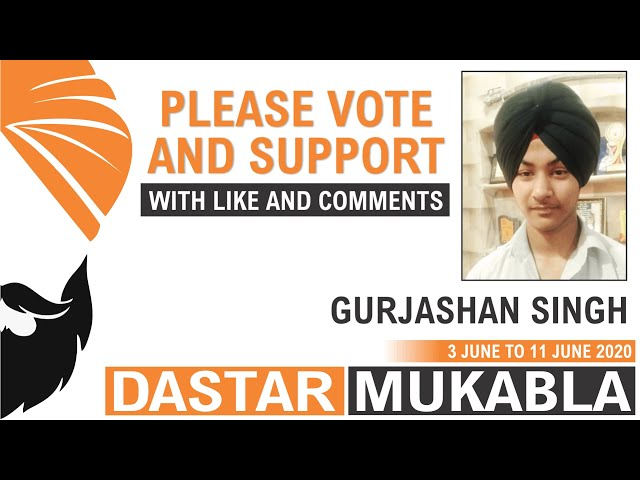 GURJASHAN SINGH || Dhansikhi Dastar Mukabla || Dhansikhi Turban Tying Compitition 2020