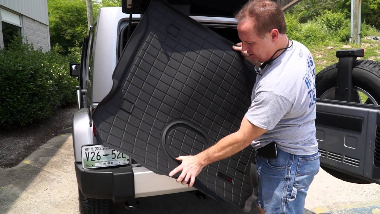 Weathertech door mats - Jeep Wrangler 2015 Weathertech Floor Mats Front Mid And Rear Over Subwoofer How To Install