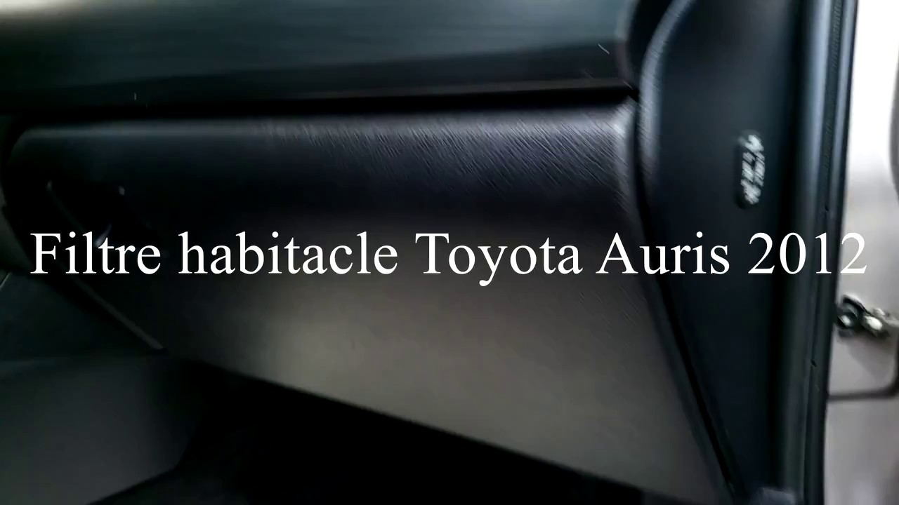 Cabin Air Filter >> Comment changer le filtre habitacle Toyota Auris 2012 (How to change a cabin filter on auris ...