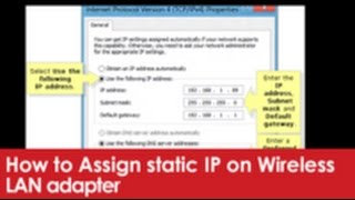 How to Assign static IP on Wir…