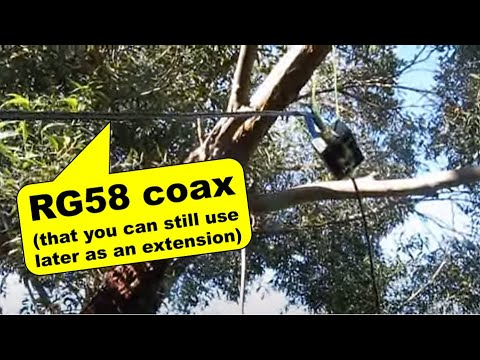 Testing a coaxial cable HF magnetic loop antenna - YouTube