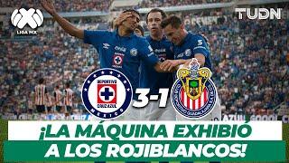 ¡Qué baile! Cruz Azul golea y exhibe a las Chivas | Cruz Azul 3-1 Chivas - AP2013 | TUDN