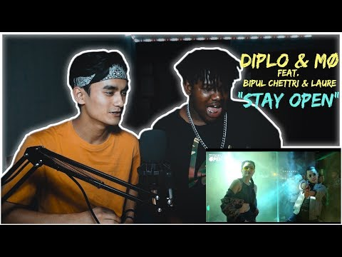 FOREIGNER REACT TO NEPALI SONG | Diplo & MØ feat. Bipul Chettri & Laure - Stay Open