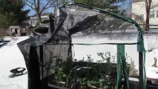 Turning A 3/4 Tier Shelf Greenhouse Into A Vegetable Hardening-off Station & Other Tips