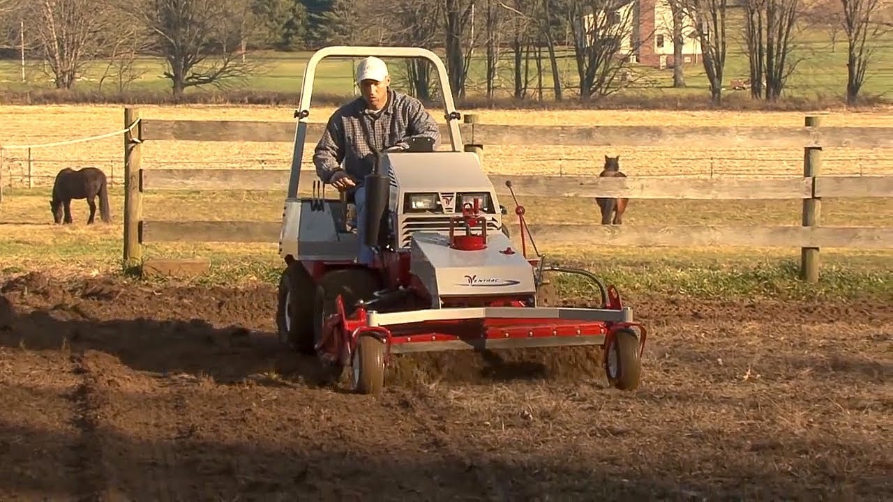 Chemical Free Horse Arena Transformation by Ventrac -Goodbye Weeds!