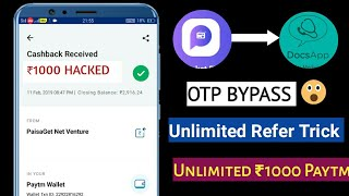[Refer Bypass] Poket Fm App Unlimited Refer Bypass & Docsapp Trick Unlimited Trick 1000Rs 2019