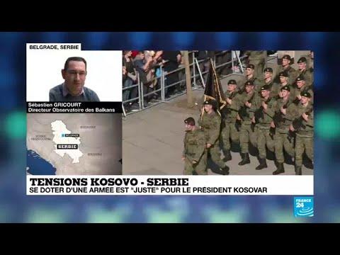 Tensions Kosovo  - Serbie : se doter d'une armée est 'juste' pour le président kosovar
